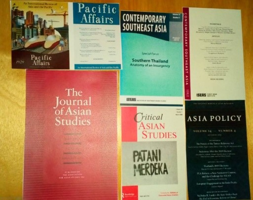 various covers of Asian Studies Journals