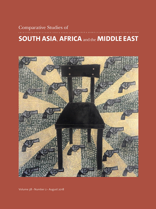 Frontpage of the publication: 'Comparative Studies of South Asia, Africa and the Middle East'